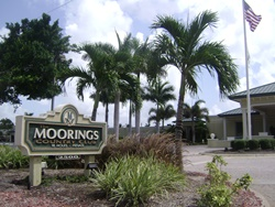 Moorings in Naples, Florida.